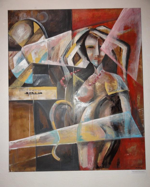 Mária Sabová - Pred zrkadlom.