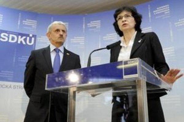 Lucia Žitňanská a Mikuláš Dzurinda.