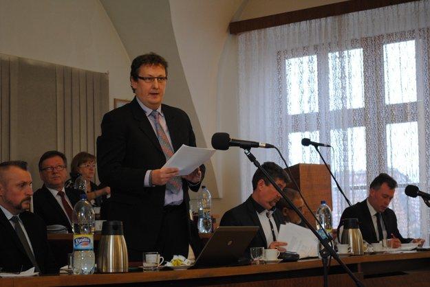 Návrh rozpočtu prečítal bardejovský financmajster Miloš Mikula