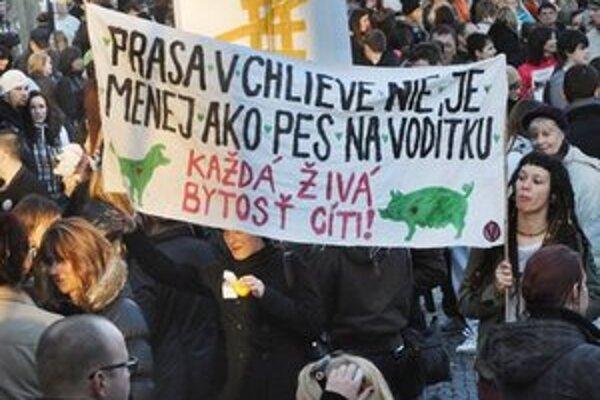 Prvý psí (zvierací) pochod na Slovensku.