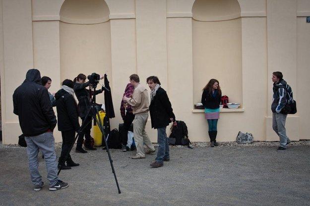 Zábery z natáčania filmy Marinka.