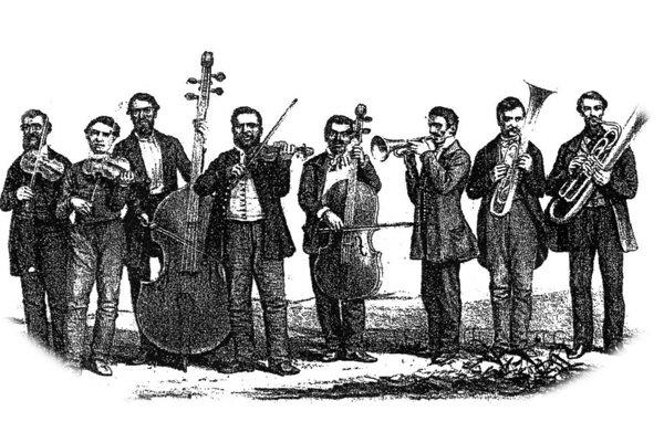 František Bunkó ml. s kapelou v roku 1854.