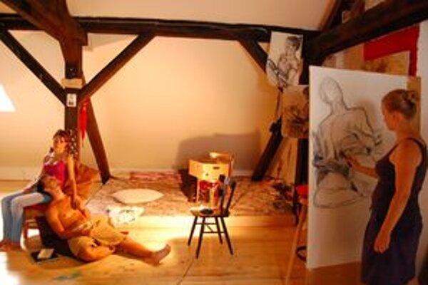V novom ateliéri sa maľuje, prístupná je aj výstava.