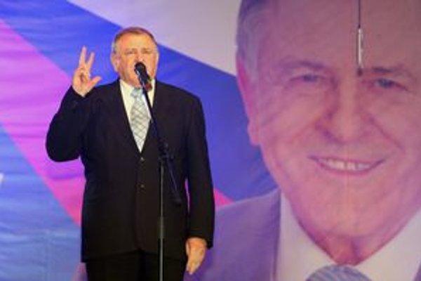 Predseda strany HZDS Vladimír Mečiar.