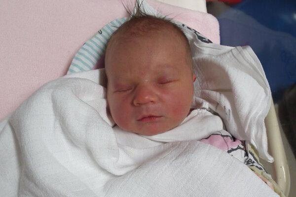 Terezka Rončáková je prvým dieťatkom narodeným na Orave v roku 2017.