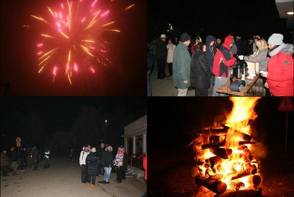 Novoročné oslavy v Nitrianskom Hrádku.