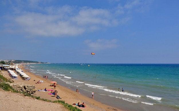 Pláž, Side Turecko.