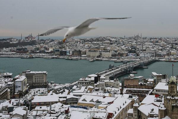 Snežilo aj v Istanbule.