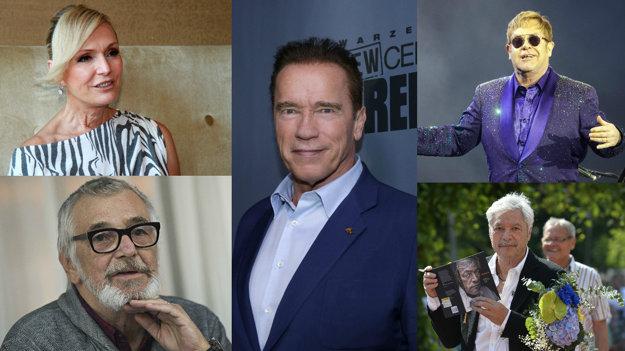 Helena Vondráčková, Jiří Bartoška, Arnold Schwarzenegger, Elton John, Juraj Kukura