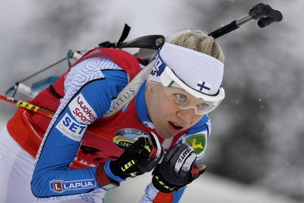 Šprint v Ruhpoldingu ovládla Kaisa Mäkäräinenová.