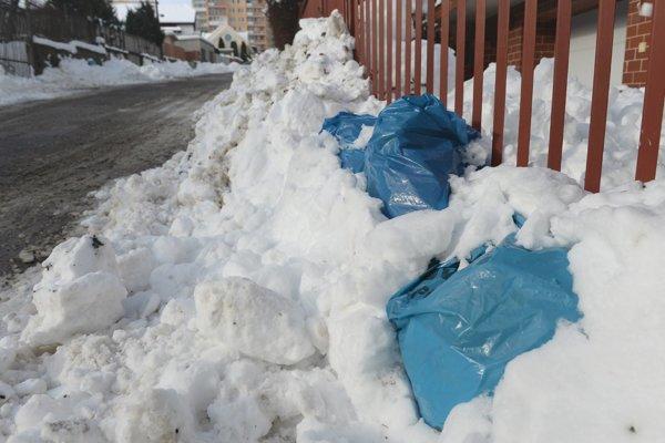 Vrecia so separovaným odpadom nemá kto odpratať.