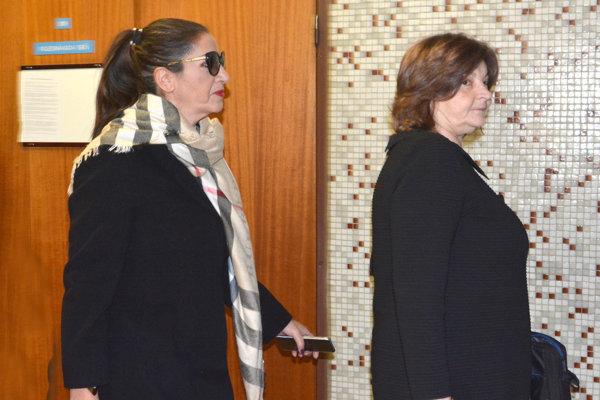 Nora Mojsejová Kabrheľová prišla so svojou advokátkou.