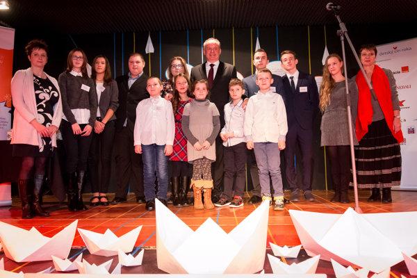 Malí hrdinovia. Víťazi Detského činu roka si užili aj obdiv prezidenta Andreja Kisku.