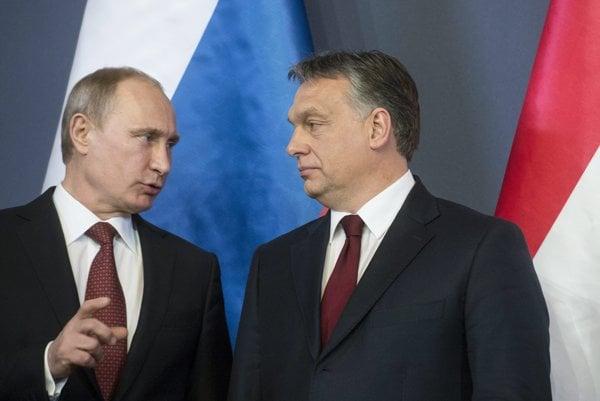 Vladimir Putin a Viktor Orbán na stretnutí pred dvoma rokmi.