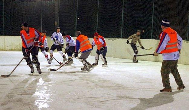 A potom už sa strhlo hokejové zápolenie