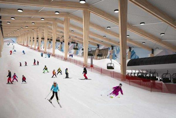 Takto by mala vyzerať lyžiarska hala.