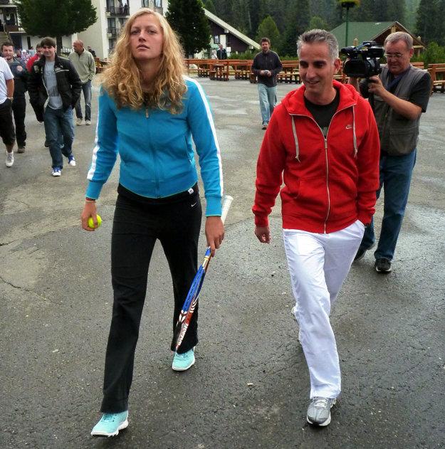 Jozef Ivanko s českou tenistkou Petrou Kvitovou.