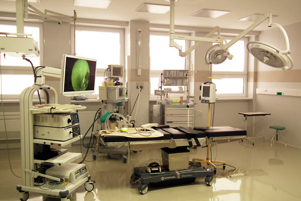 Zrekonštruovaná operačná sála na ORL oddelení.