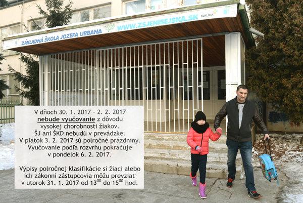 Chrípkové prázdniny na ZŠ Jenisejská 22 v Košiciach.