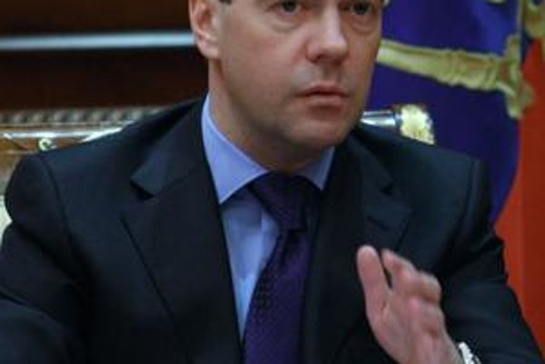 Ruský prezident Dimitrij Medvedev.
