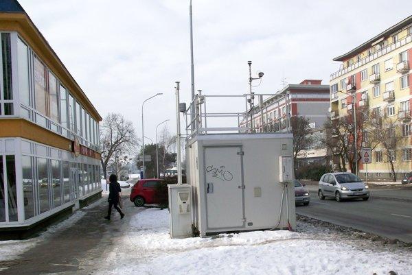 Monitorovacia stanica na Štúrovej ulici.