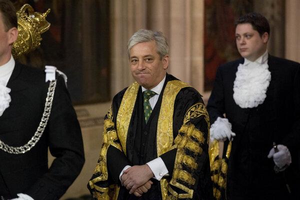 Predseda Dolnej snemovne britského parlamentu John Bercow.