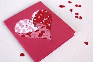 Postup na valentínsky pozdrav z papiera