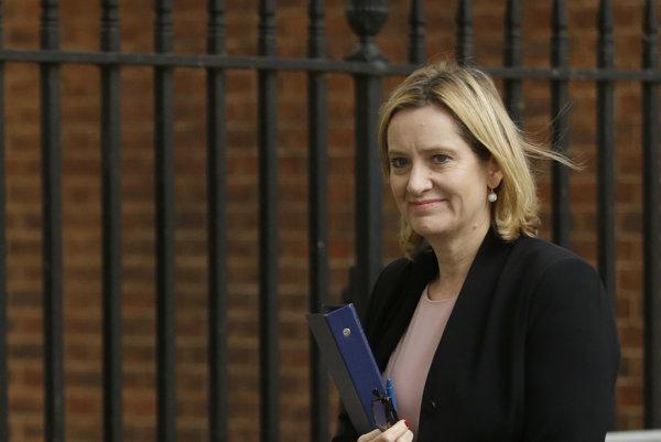 Britská ministerka vnútra Amber Ruddová.