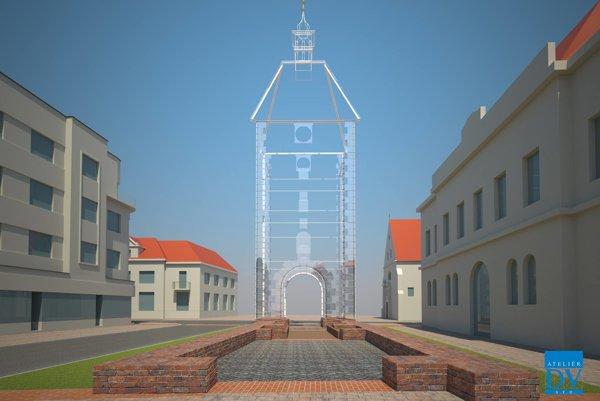 Takto  by mohla vyzerať Dolná brána podľa návrhu Ateliéru DV.