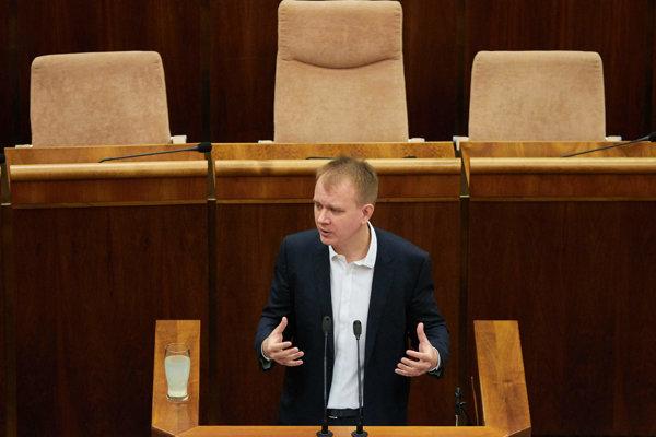 Nezaradený poslanec NR SR Miroslav Beblavý počas pokračovania rokovania 12. schôdze Národnej rady SR. Bratislava, 10. február 2017.