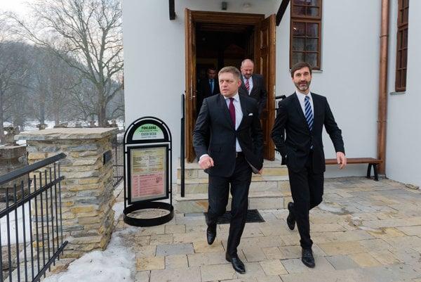 Premiér Fico na Budatínskom hrade.