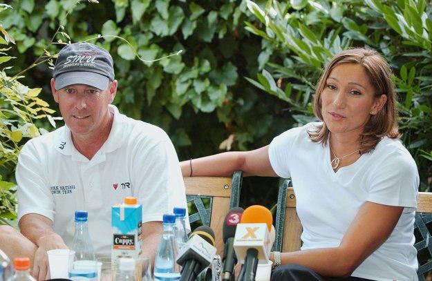Steve Collins s Martinou Moravcovou. Snímka je ešte z roku 2004.