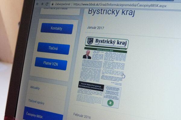 Občasník, ktorý má byť župnými novinami, zverejňujú na webe samosprávneho kraja, hoci propaguje konkrétnu politickú stranu.