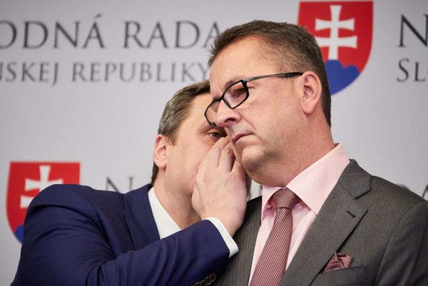 Andrej Danko a Martin Glváč.