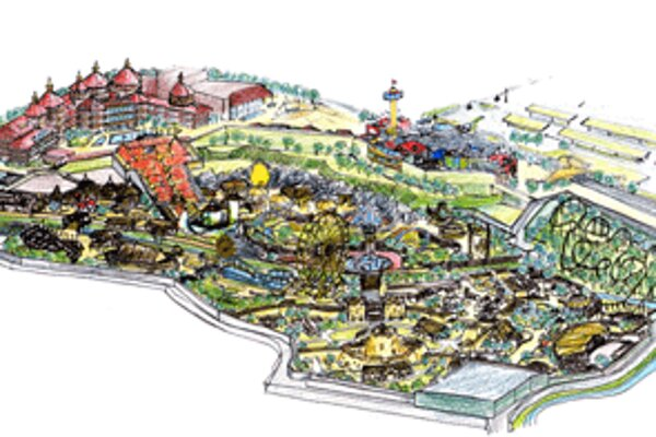 Vizualizácia zábavného parku v Bojniciach.