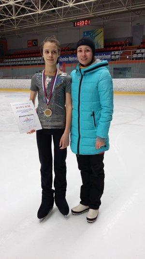 F. Kurimský s trénerkou.