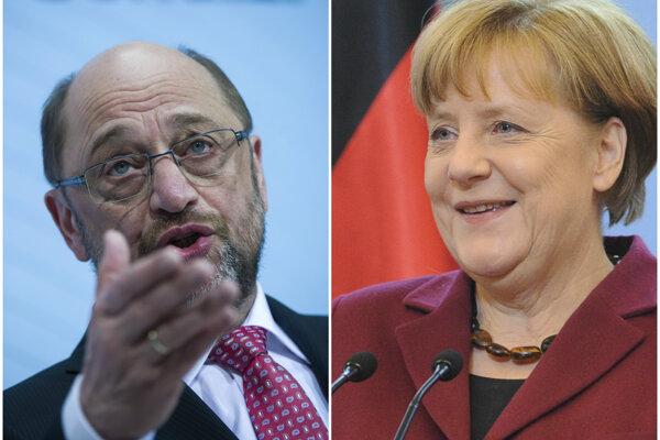 Shulz v prieskumoch vedie nad Merkelovou.