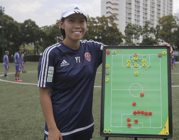 Čchan Jüen-tching je prvou ženou na lavičke klubu v ázijskej Lige majstrov.