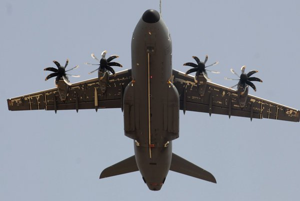 Vojenské transportné lietadlo Airbus A400M.