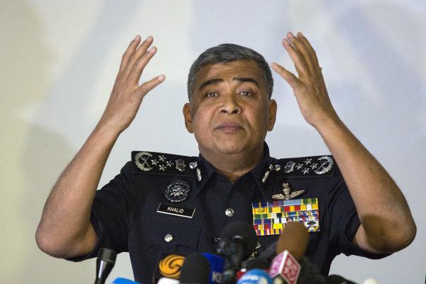 Generálny inšpektor malajzijskej polícia Khalid Abu Bakar.