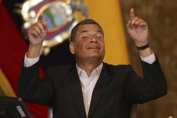 Odchádzajúci prezident Rafael Correa.
