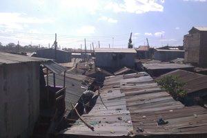 Slum Mukuru v Nairobi