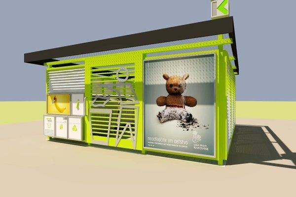 Vízia budúcnosti? Jeden z návrhov ako by mohli podľa Kositu nové kontajneroviská vyzerať.