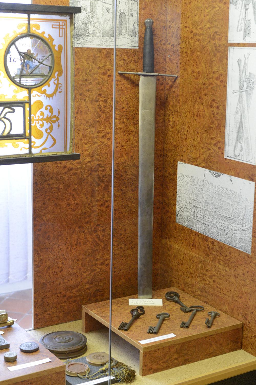 Caraffov meč, ktorým v roku 1687 sťali počas Prešovských jatiek 24 mešťanov a šľachticov Uhorska.