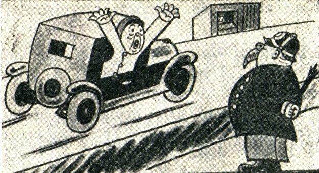 Dobová karikatúra.