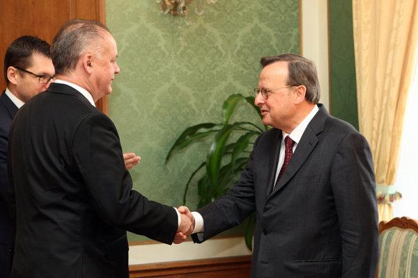Predsedu Európskeho súdu prijal aj prezident Kiska.