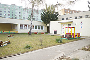 Materská škola na Železničnej ulici.