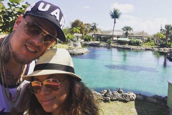 Tina s manželom.