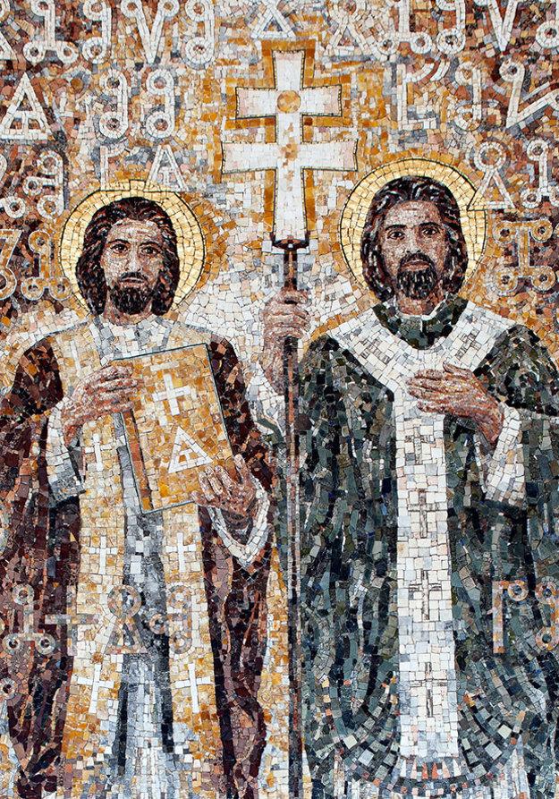 Mozaika v kostole v Radoli.