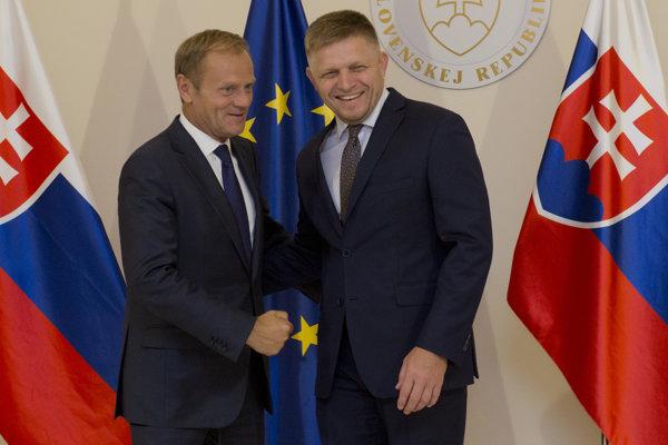Fico podporuje Tuska.